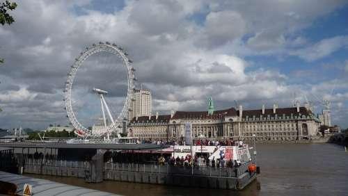 London Eye London Landmark Building Uk Britain