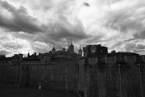 London Tower Castle Sky Grey Dramatic London
