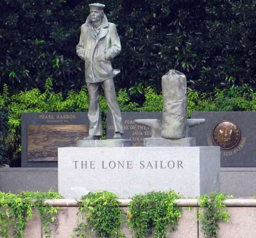 Lone Sailor Statue Sailor Statue Sculpture Monument