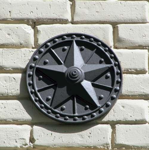 Lone Star Texas Star Metal Bricks Decoration