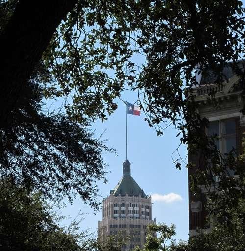 Lone Star Flag Emily Morgan Hotel San Antonio Texas