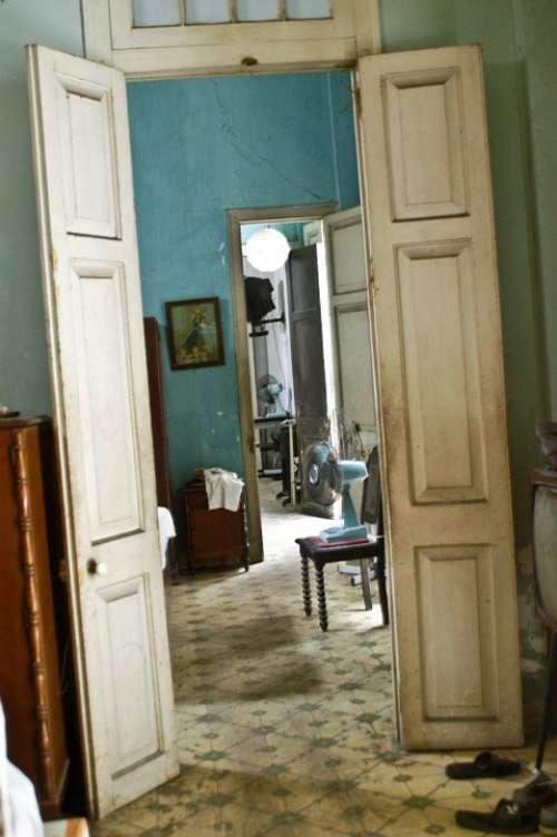 Loneliness Space Home Old Door