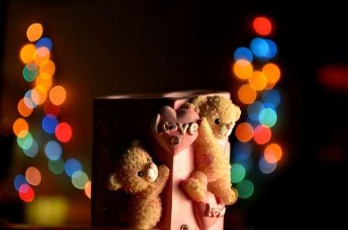 Love Bokeh Cup Mug Pink Romantic Valentine