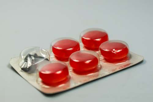 Lozenge Pill Medicine Drug Cure Flu Throat Cough