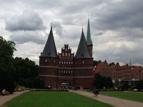 Lübeck Holsten Gate Historically Landmark City Gate