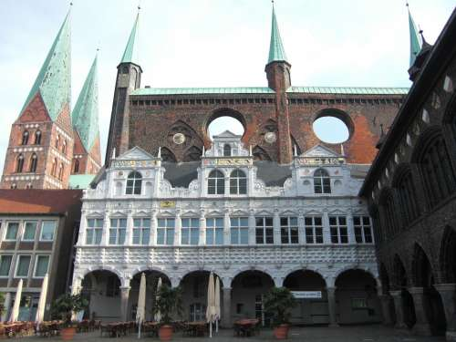 Lübeck Hanseatic City Town Hall Historically