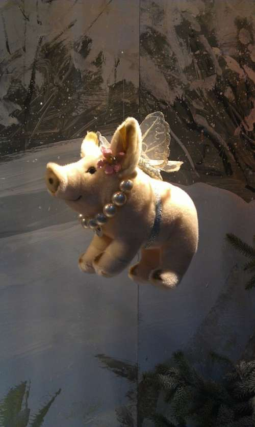 Lucky Pig New Year'S Day Flying Wing Beads