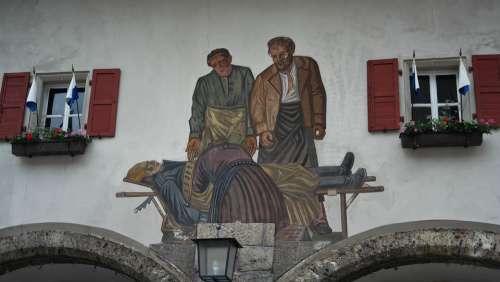 Lüftlmalerei Facade Painting Frescos Upper Bavaria
