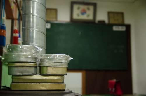 Lunch Box Blackboard Stove