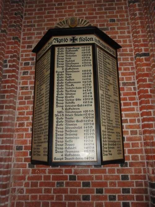 Lüneburg War Memorial St Nikolai Church