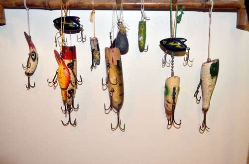Lure Fishing Fish Antique Sport Hobby