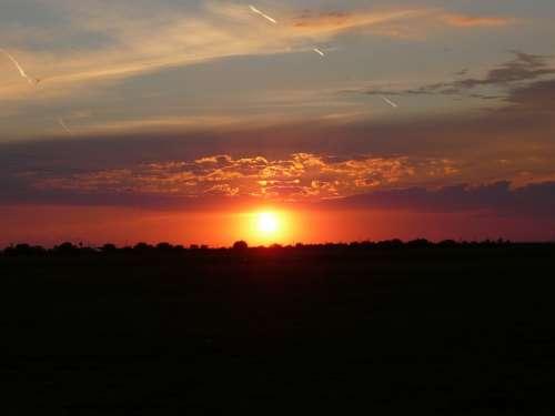 Lying Sunset Clouds Nature Sky Transsylvania
