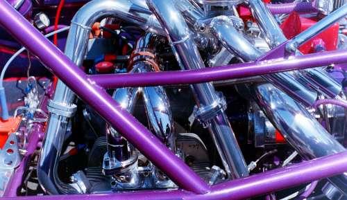 Machine Metal Chrome Tubes Car Motor Engine