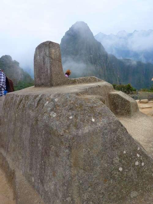 Machu Picchu Intihuatana Sundial Peru Inca Tourism