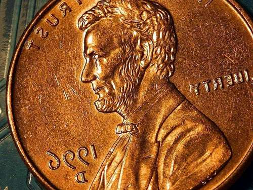 Macro Coin Lincoln Copper Cents Penny Coins