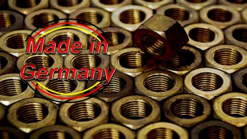 Made In Germany Nuts Stamp Manufacturing Production