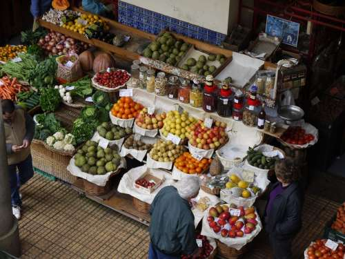 Madeira Fruits Portugal Market Hall Funchal Fruit