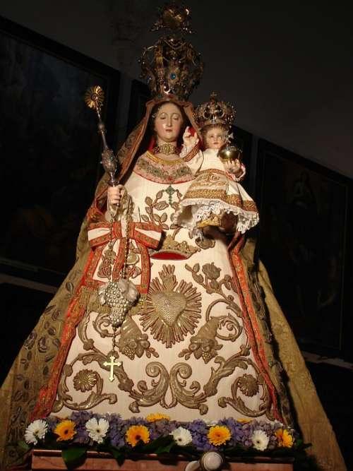 Madonna Child Statuette Religion Devotion