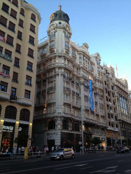 Madrid Gran Vía Building Architecture City Centre