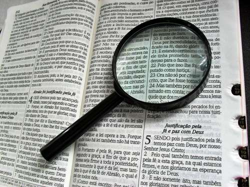 Magnifying Glass Bible Bibliology Theology