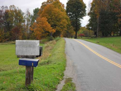 Mailbox Rural Mail Letters Scene Nature Road