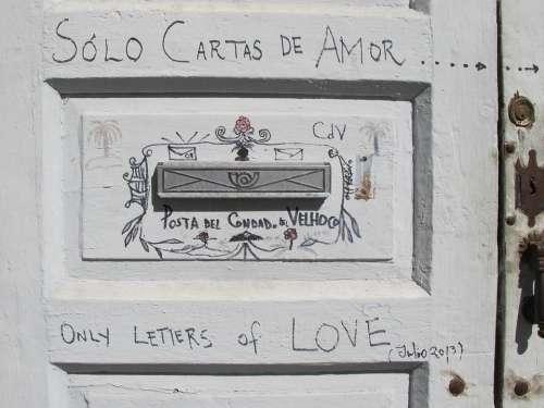 Mailbox Door Post Love Letter Entrance Door House