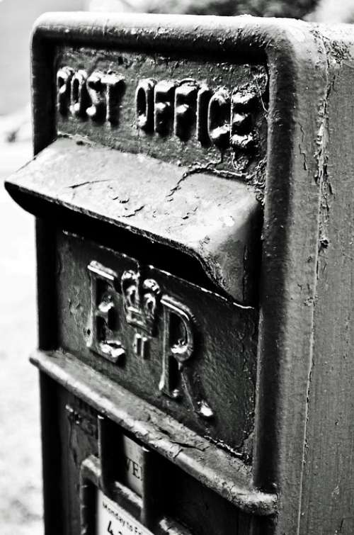 Mailbox Old Black White Charles University England