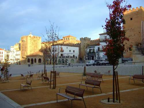Main Square Cáceres Extremadura Spain