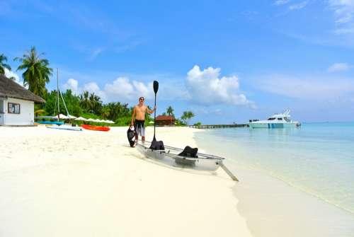 Maldives Coconut Tree Sea Resort Summer Holiday
