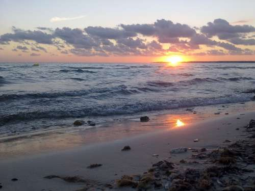Mallorca It Trenc Summer South Sunset Beach Sea