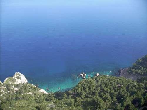 Mallorca Sea Mountains Rock Cliffs Landscape