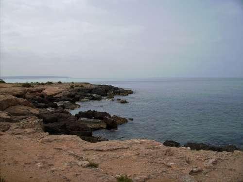 Mallorca Sea Beach Rock Landscape Island Nature