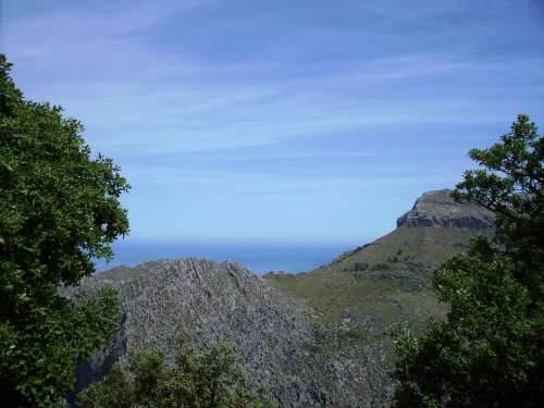 Mallorca Sea Mountains Landscape Island Nature