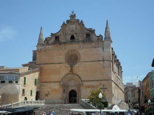 Mallorca Felanitx Spain Church Imposing Front