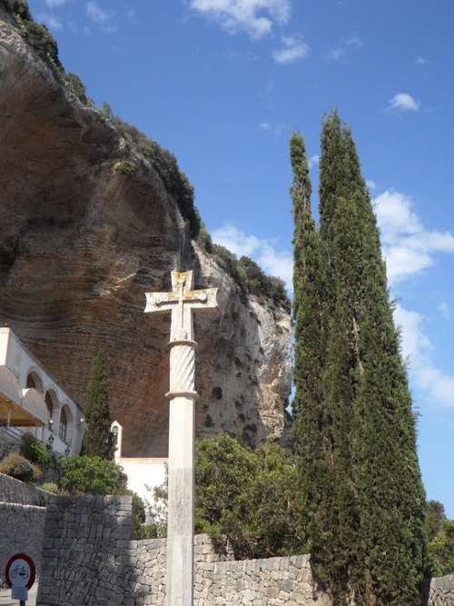 Mallorca Cross Make A Pilgrimage Stone Cross