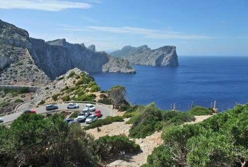 Mallorca Cap De Formentor Coast Rock Sea