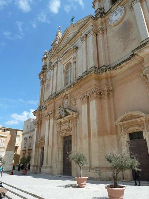 Malta Old Building Architecture Mediterranean