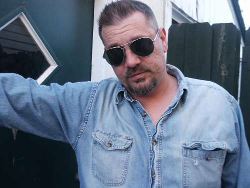 Man Sunglasses Blue Shirt Cool Glasses Face