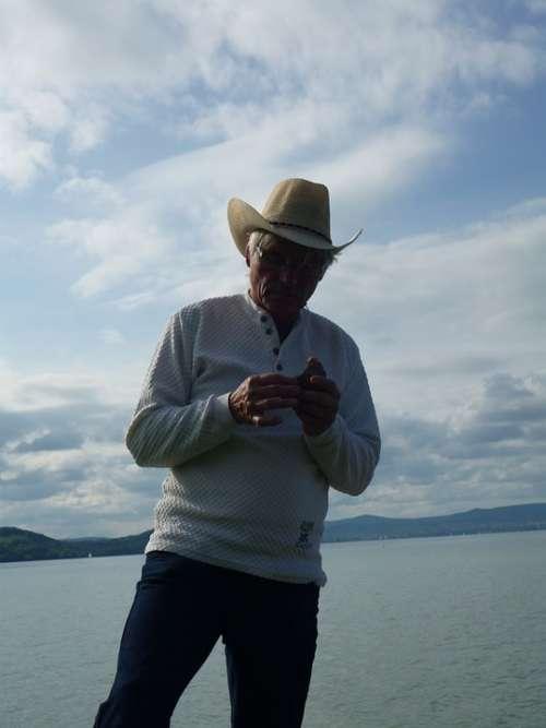 Man Person Cowboy Jeans Levis Hat Cowboy Hat