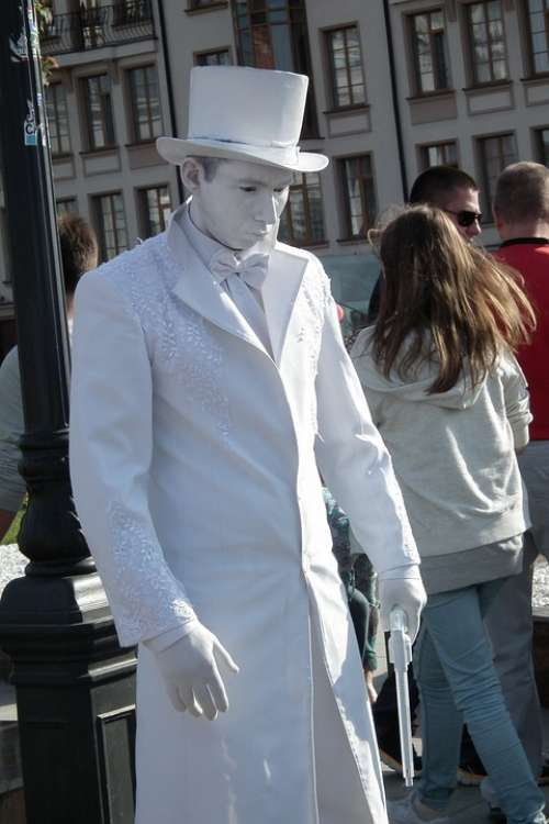 Man Street Actor Artist Monument Costume Carnival