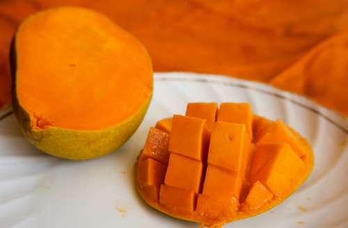 Mango Fruit Sliced Exotic Orange Ripe Food Fresh