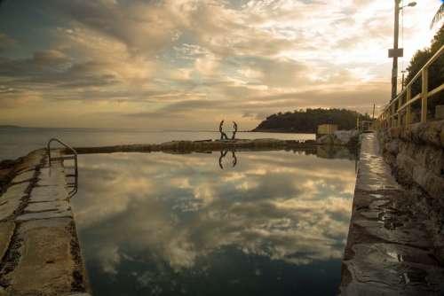 Manly Sydney Australia Rocks Pool Reflection