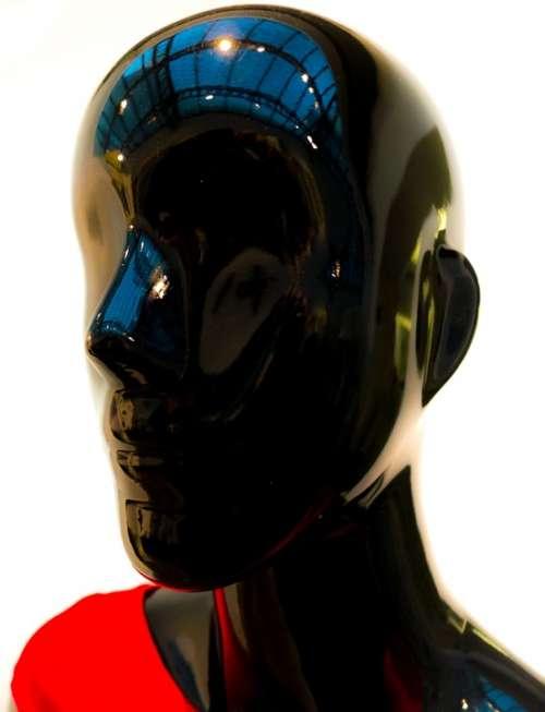 Mannequin Model Snowman Black Shine Red