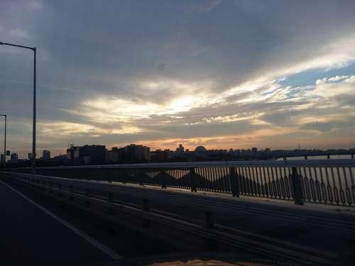 Mapo Bridge Houses Of Parliament Sky