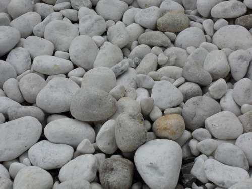 Marble Pebble Marble Gravel Riverbed White