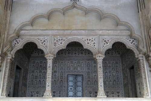 Marble Canopy Jharokha Emperor'S Dais Diwan-I-Am