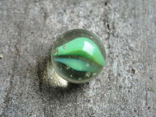 Marbles Green Blue Glass Floor