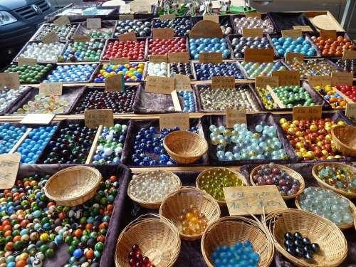 Marbles Balls Round Colorful Glass Toys