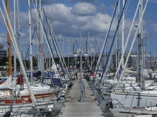 Marina Port Boats Ships Baltic Sea Sailing Boat