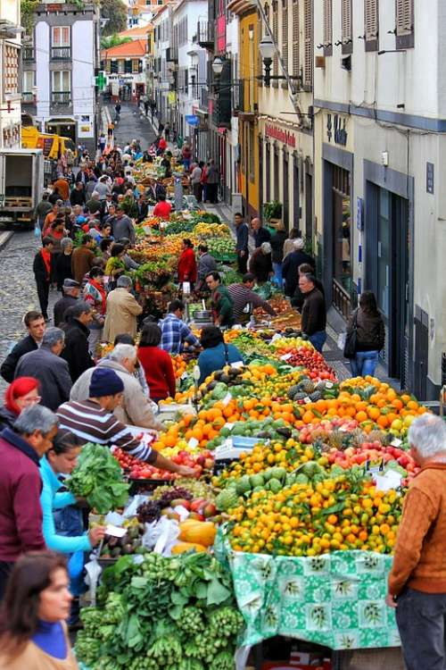 Market Colors Fruit People Italy